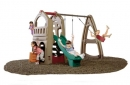 Playhouse Climber with Swing Extension