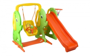Elephant slide with swing Step2 Πλαστικά Παιχνίδια