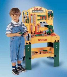 BOSCH workstation workbench with accumulator screwdriver Step2 Πλαστικά Παιχνίδια