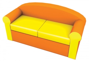 Fairy Long Sofa Step2 Πλαστικά Παιχνίδια