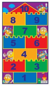 Hopscotch Castle Carpet Step2 Πλαστικά Παιχνίδια