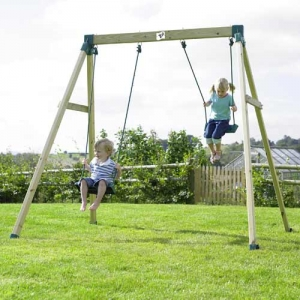 TP Forest Double Wooden Swing Step2 Πλαστικά Παιχνίδια